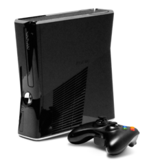Black Xbox 360 with Joystick